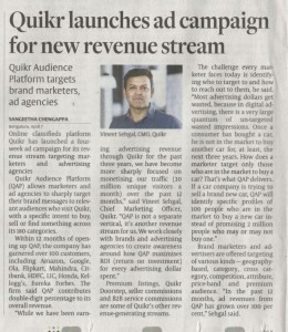 HBL,Quikr launches ad campaign for new revenue stream, April 8 2017, pg 6